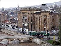 Sarajevo, National Library building, 2005