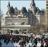 Skaters on Rideau Canal, Ottawa