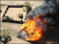Burning home in Darfur
