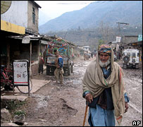 Street in Chakothi, on the Pakistani side of Kashmir's line of control
