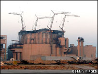 Reactor under construction at Bushehr