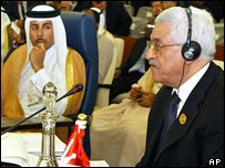 Palestinian leader Mahmoud Abbas at Arab League summit