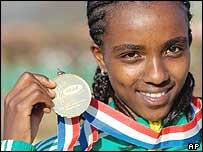 Runner Tirunesh Dibaba of Ethiopia