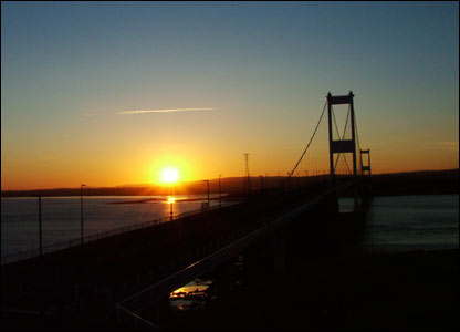 The old Severn Bridge Crossing taken at sunset (Aaron Jones, Pontardawe)
