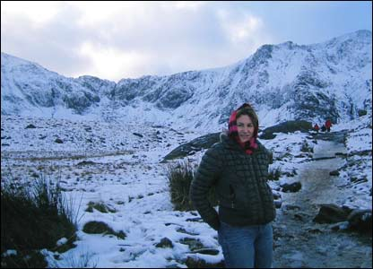 Rhiannon at Cwm Idwal, Snowdonia - taken by Mark Jones from Beaumaris