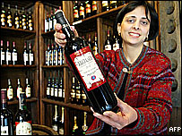 Georgian wine seller
