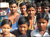 Young Bangladeshi men voice disapproval of mining project