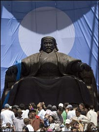The huge statue of Genghis Khan