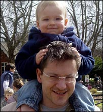 Robet Westhead with his son Thomas.
