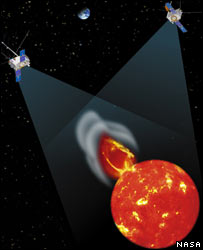 Stereo spacecraft - artist's impression
