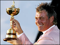 European golfer Darren Clarke with the Ryder Cup