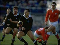 'Smokin' Joe Stanley takes on the Wales defence