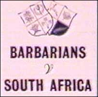 Barbarians v South Africa programme, 1961