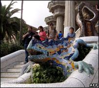 Gaudi's Park Guell, Barcelona