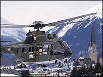 Swiss military helicopter