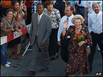 Queen Beatrix in Aruba, November 2006