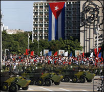 Military parade, Havana, December 2006