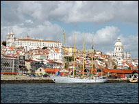 Waterfront of Alfama district, Lisbon