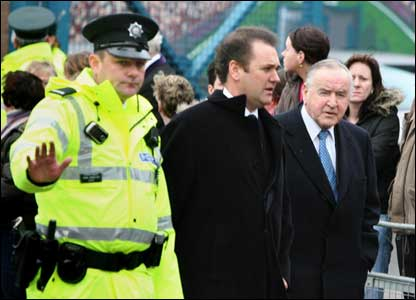 Former Taoiseach Albert Reynolds attended the funeral