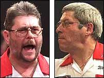 Martin Adams (left) and Phil Nixon (right) will contest the final