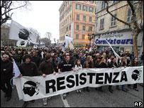 Nationalist demonstration, Bastia, January 2007