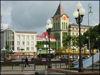 Shopping district, central Kaliningrad