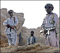Armed tribal men, Balochistan, 2006