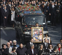 Funeral procession of murdered Turkish-Armenian journalist Hrant Dink, 2007