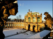Dresden's Zwinger, said to house the world's largest porcelain collection