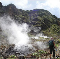 Swirling steam in Valley of Desolation, Dominica 