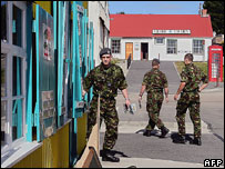 Soldiers in Stanley