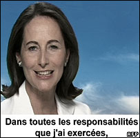 Segolene Royal campaign video on French TV