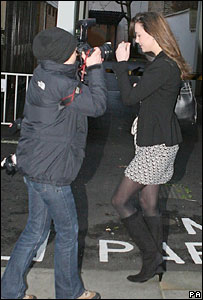 Photographer taking picture of Kate Middleton