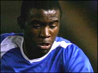 Birmingham City midfielder Fabrice Muamba