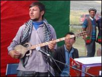 A rubab player