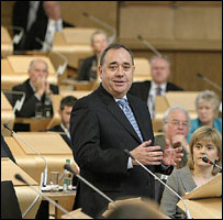 Alex Salmond in Scottish Parliament