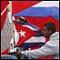 Cuban flags in the Miami neighborhood of Little Havana