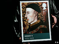 Henry V features on a new range of stamps