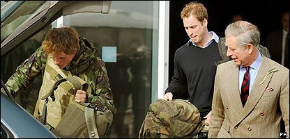 Princes Harry, William and Charles