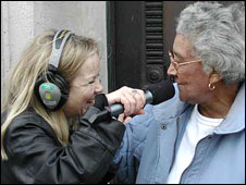 BBC London 94.9's JoAnne Good conducts interview 