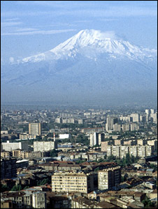 Yerevan with Mount Ararat in background