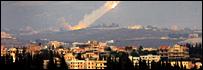 Katyusha rockets fired from southern Lebanon into Israel in 2006