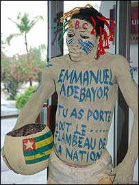 A fan of Emmanuel Adebayor (picture by Senyuiedzorm Adadevoh)
