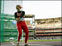Carys Parry in action in the 2006 Commonwealth Games
