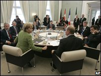 G8 leaders at the 2007 Heiligendamm summit in Germany (June 2007)