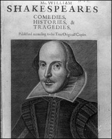 Title page of Shakespeare first folio