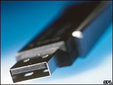 A USB memory stick