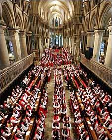 Bishops congregate at Canterbury Cathedral