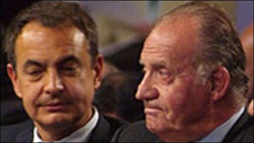 Jose Luis Rodriguez Zapatero and King Juan Carlos