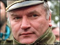 Ratko Mladic in 1994 in Sarajevo